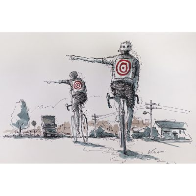 Road Targets | Original Cycling Art