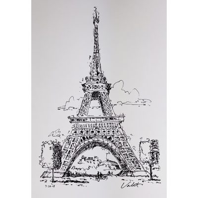 Le Tour Eiffel Art | Original Cycling Art