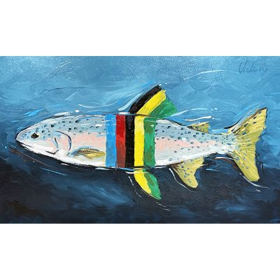 Rainbow Jersey Trout | Original Cycling Art