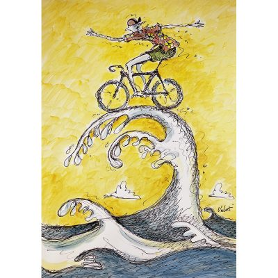 Wave Rider | Original Cycling Art