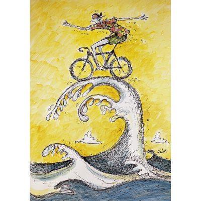 Wave Rider | Original Cycling Art