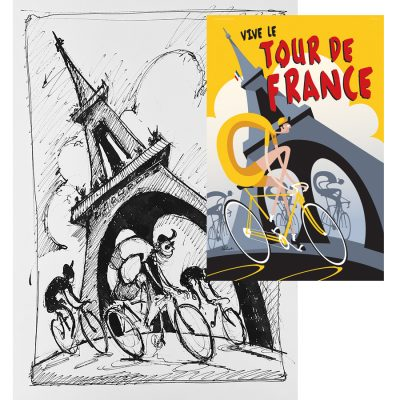 Vive le Tour | Original Cycling Art