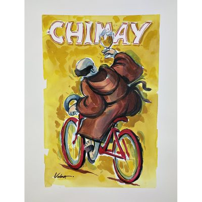 Chimay Monk | Original Cycling Art