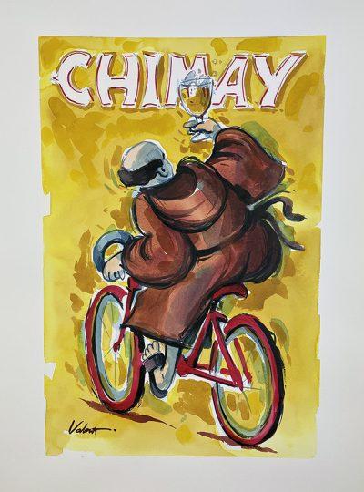 Chimay Monk | Original Cycling Art
