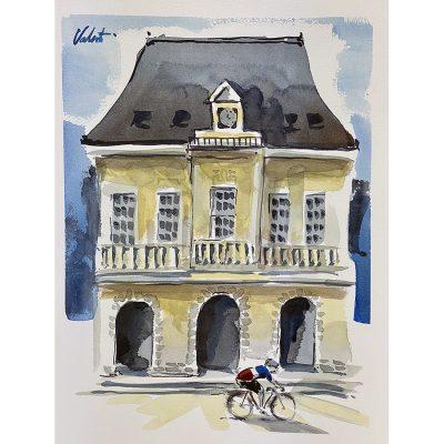 Chateau | Original Cycling Art