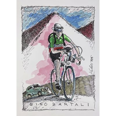 Gino Bartali | Original Cycling Art