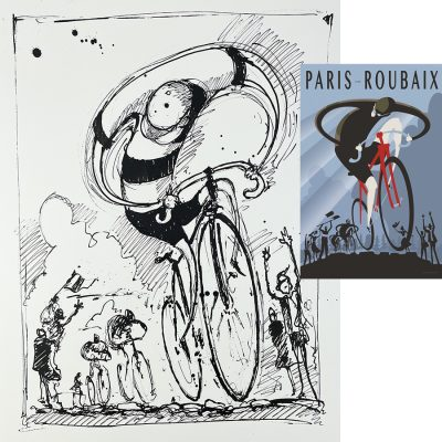Roubaix 1896 | Original Cycling Art