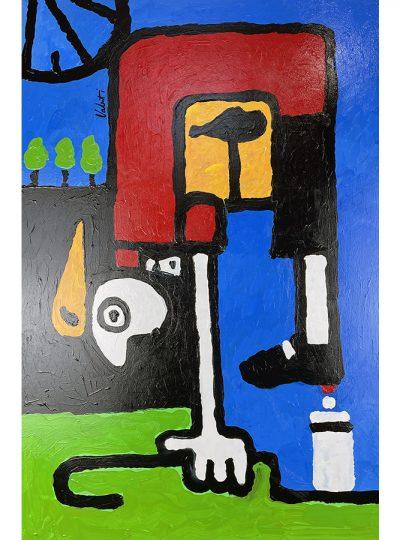 Picasso Rider | Original Cycling Art