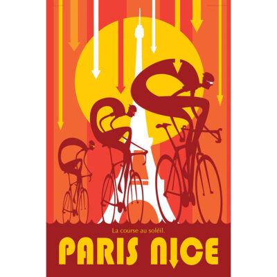 Paris Nice | Race to the Sun | Cycling Art Print