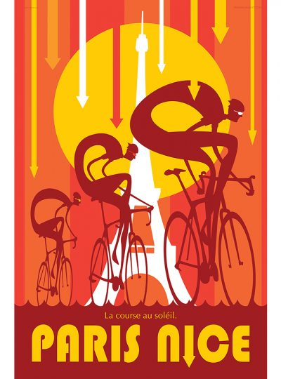 Paris Nice Cycling Art Print | Valenti