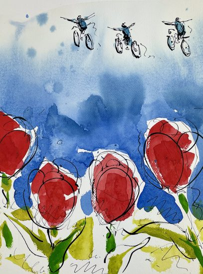 Soaring Over Tulips_detail 1