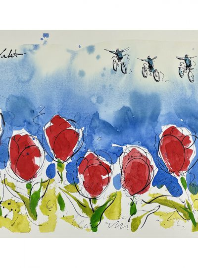 Soaring Over Tulips