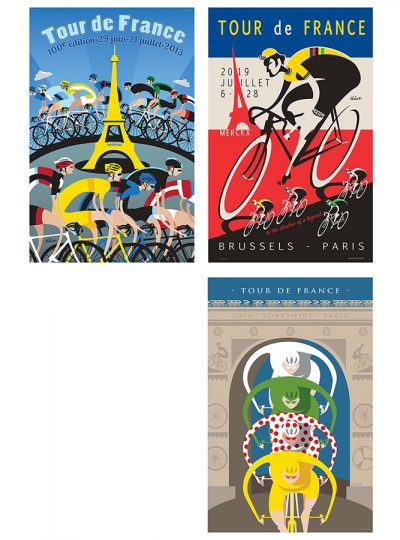 Three Tour de France | Cycling Art Print Set