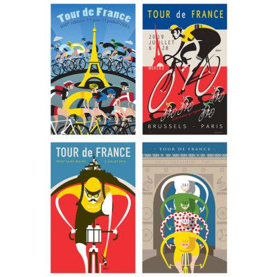 Tour de France Iconic Set of Four Prints