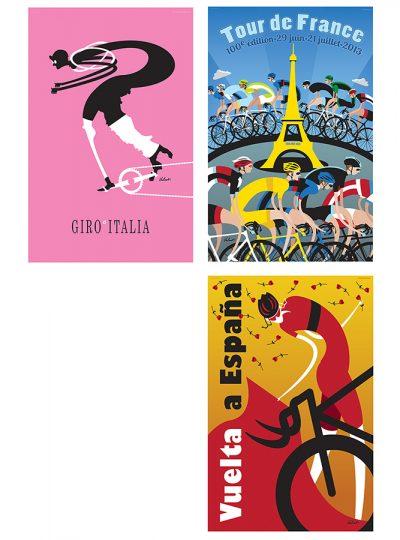 Three Grand Tours | Cycling Art Print Set