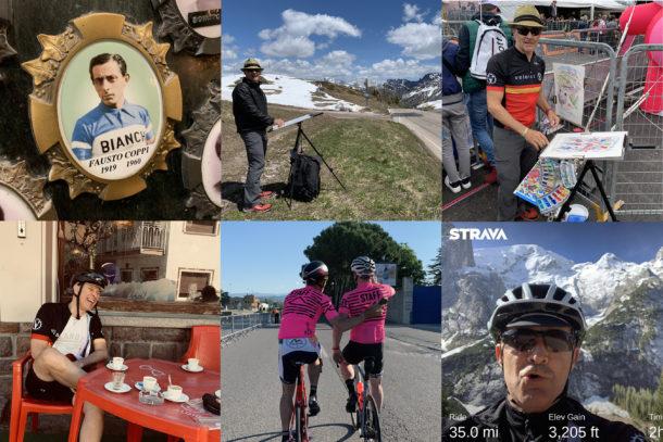 Cycling Artis Michael Valenti at 2019 Giro mosaic