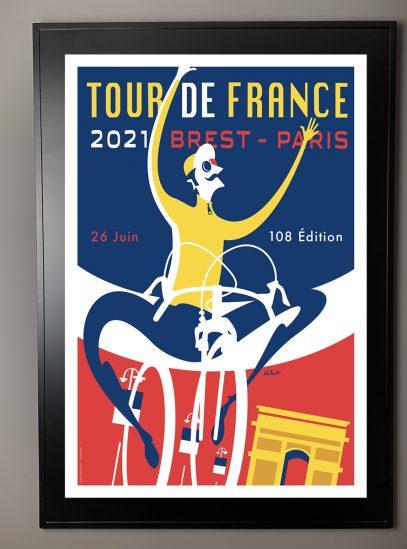 TDF 2021 Triomphe_framed