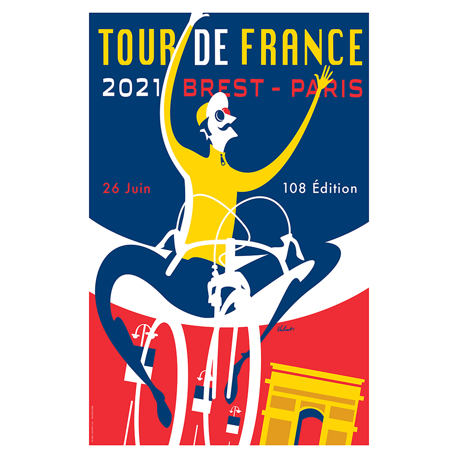 TDF 2021 Triomphe from cycling artist Michael Valenti