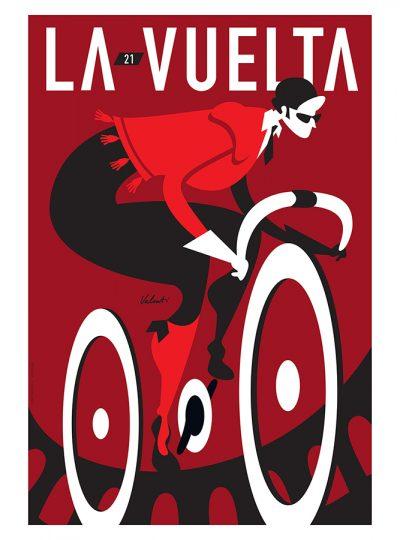 La Vuelta 21 | Cycling Art Print