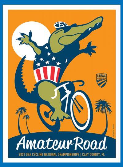 USAC Amateur Road | National Championship | Cycling Art Print