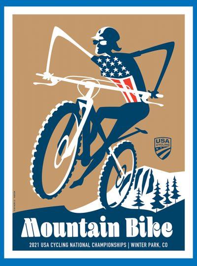 USAC MTB | National Championship | Cycling Art Print