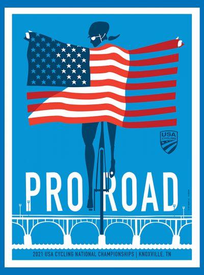 USAC Pro Road   National Championship   Cycling Art Print