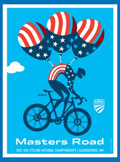 USAC Masters Road | National Championship | Cycling Art Print