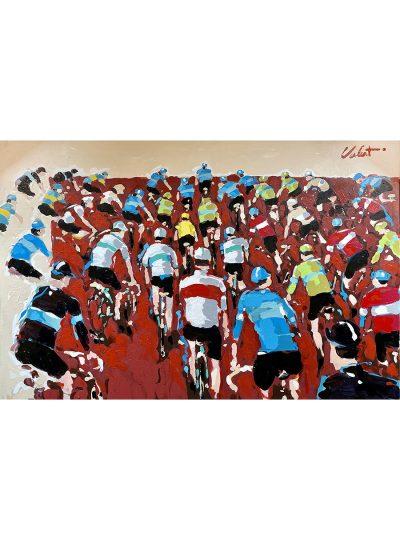 Riding as One | Original Cycling Art