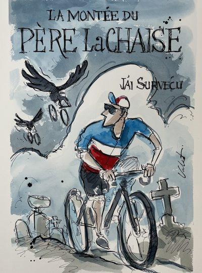 The Chase | Event Poster | Original Cycling Art