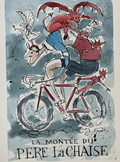Party Demons   Event Poster   Original Cycling Art