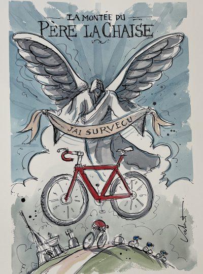 Quest | Event Poster | Original Cycling Art