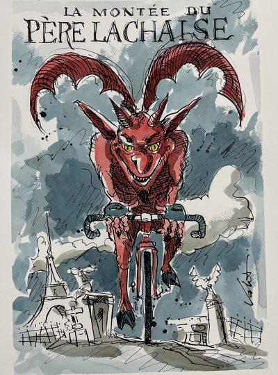 Demon Rider | Event Poster | Original Cycling Art