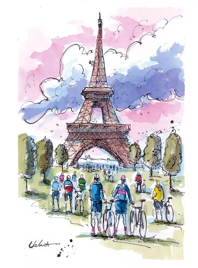 Eiffel Gathering | Original Cycling Art