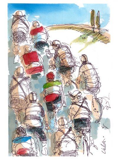 Tuscany Grouppo | Original Cycling Art